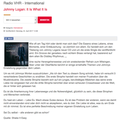 Radio VHR | It Is What It Is | Review