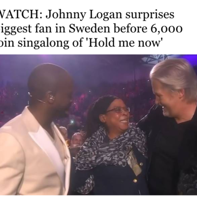 Johnny Logan surprises biggest fan in Sweden