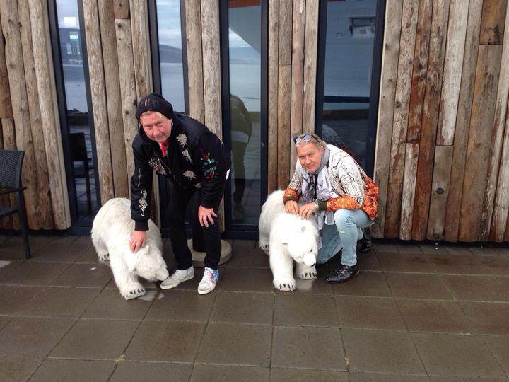 At Akureyri/Island with Mick and the icebears