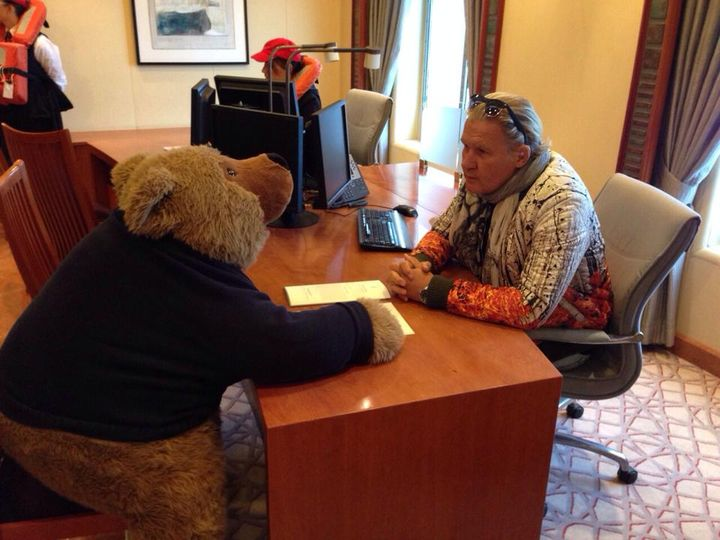 Interview with the Bear from MS Europa