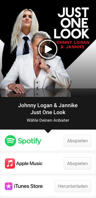 """Listen to JOHNNY LOGAN and JANNIKE """"Just One Look"""" now!"""